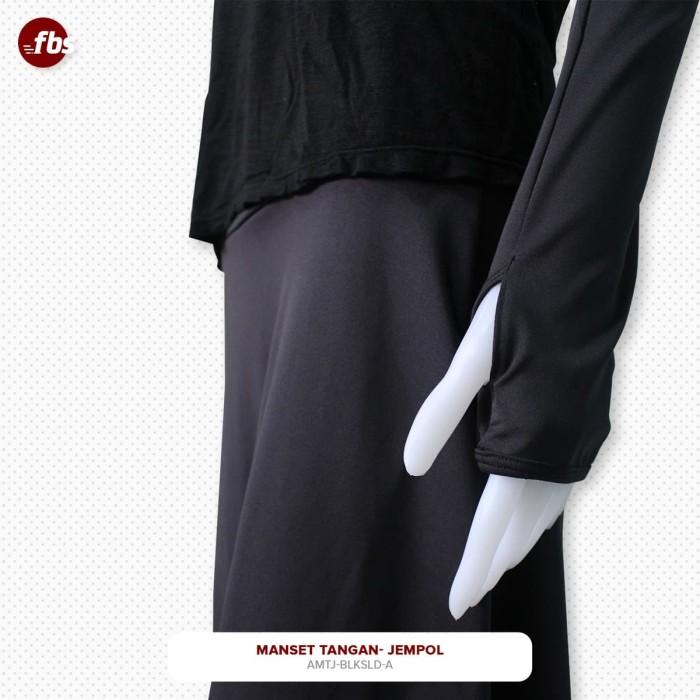 Foto Produk FBS Manset Lengan Tangan Jempol Hitam Baselayer Muslimah Handsock Hand dari FBS - Flower Body Sports