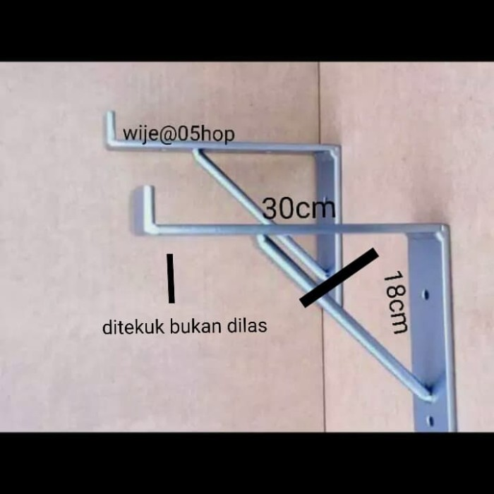 Foto Produk breacket besi siku plat besi dinding lebar 30cm dari wije@shop