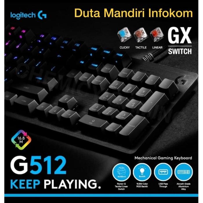 Jual Logitech G512 Carbon Rgb Gx Brown Tactile Switch Mechanical Keyboard Jakarta Pusat Duta Mandiri Infokom Tokopedia