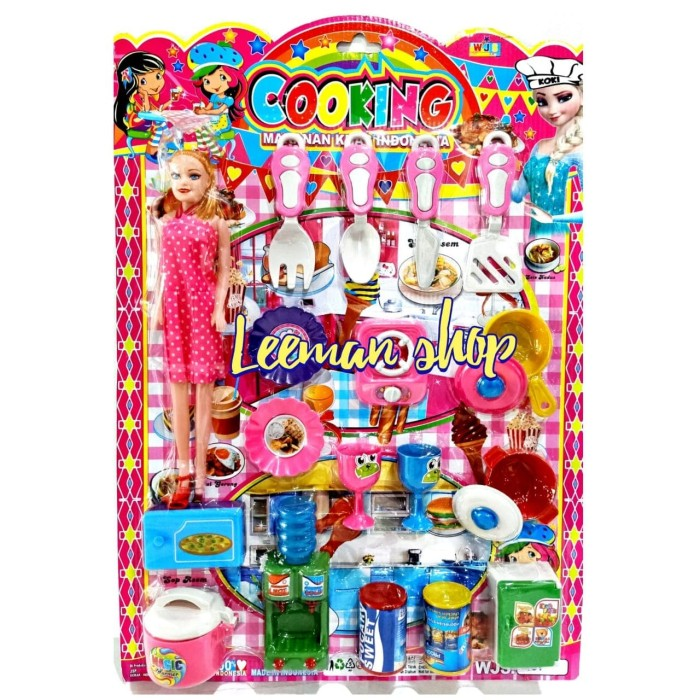 Jual Mainan Masak Masakan Anak Barbie Cooking Expert Wjs 101 Jakarta Barat Leeman Toys Tokopedia
