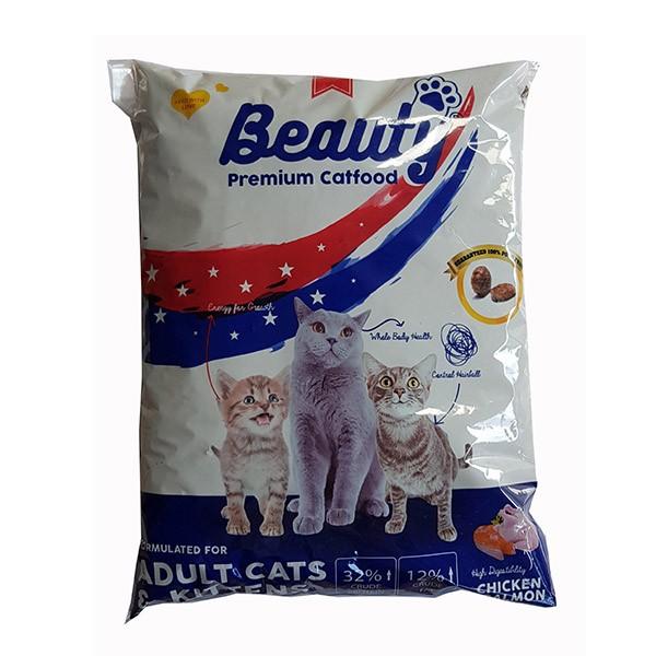 Foto Produk beauty 1 kg adult cats and kittens chicken and salmon REPACK dari F.J. Pet Shop