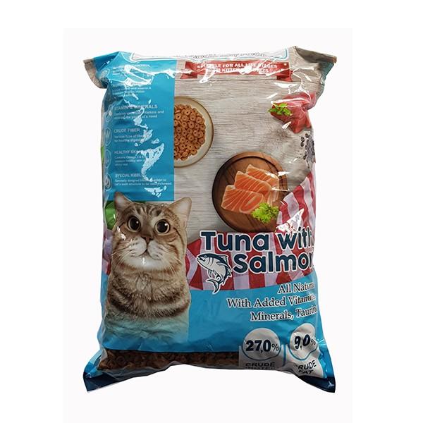Foto Produk markotops 1 kg cat tuna with salmon kibble donat REPACK dari F.J. Pet Shop