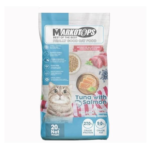 Foto Produk markotops 20 kg cat tuna with salmon kibble donat dari F.J. Pet Shop