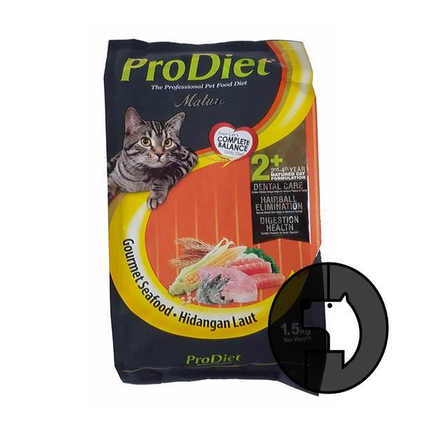 Foto Produk pro diet 500 gr cat gourmet seafood dari F.J. Pet Shop