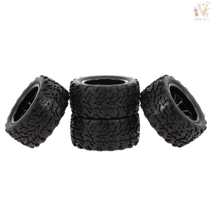 Foto Produk ❤RCC❤ 4PCS 1/10 RC Off-road Tyre Lengthways Block Tread Pattern dari Marvelous-World