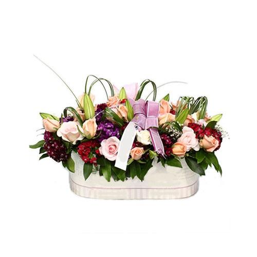 Jual Rangkaian Bunga Meja Karangan Bunga Vas Table Flower Bvs117 Jakarta Barat Semesta Indah Tokopedia