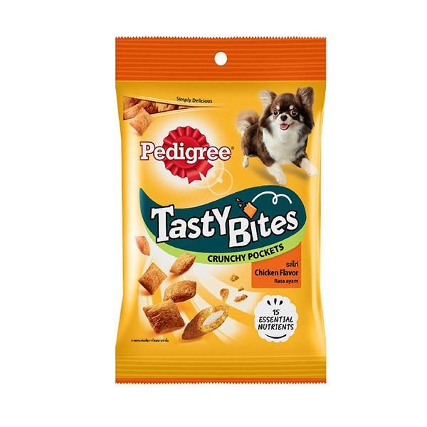 Foto Produk pedigree 60 gr tasty bites crunchy pockets chicken flavor dari F.J. Pet Shop