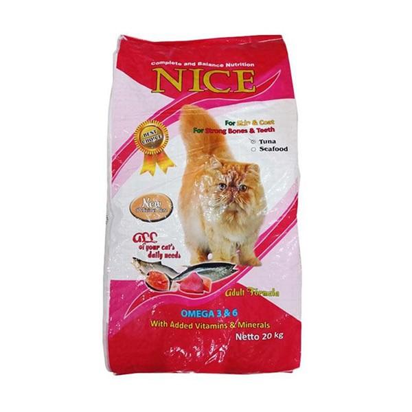 Foto Produk nice 20 kg cat seafood kibble ikan dari F.J. Pet Shop