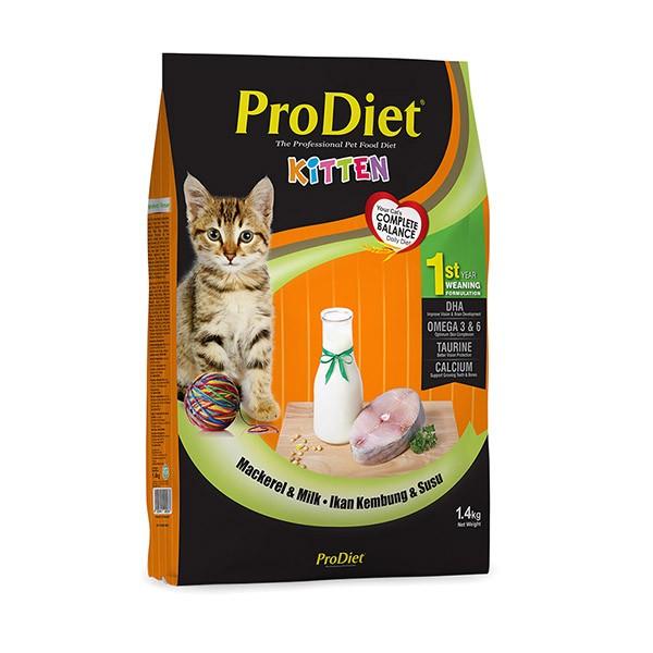 Foto Produk pro diet 1.4 kg kitten mackerel and milk dari F.J. Pet Shop