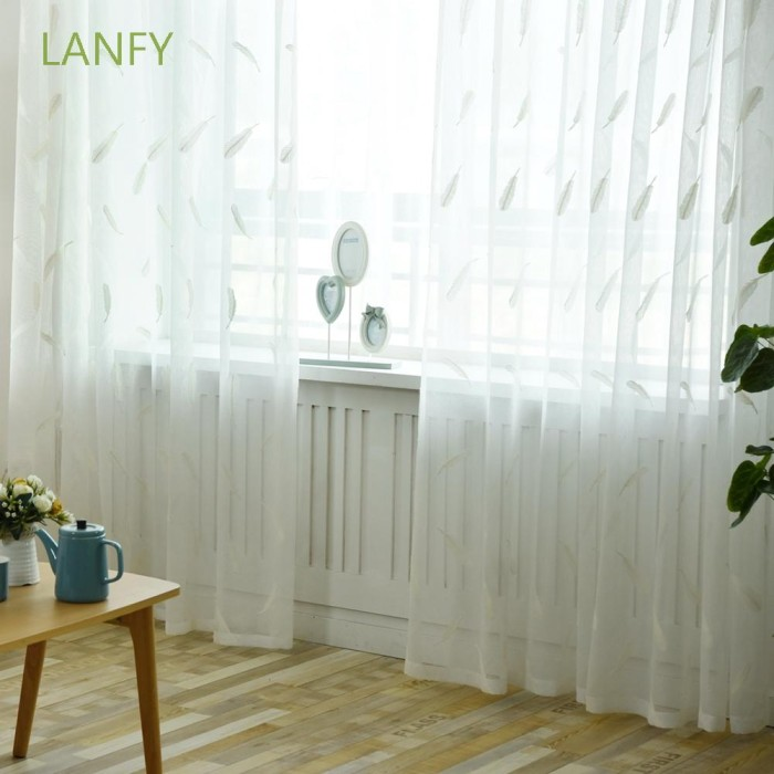 Jual Lanfy Bedroom Study Sheer Curtains Home Decor Door Window Screen Jakarta Barat Oveliashop Tokopedia