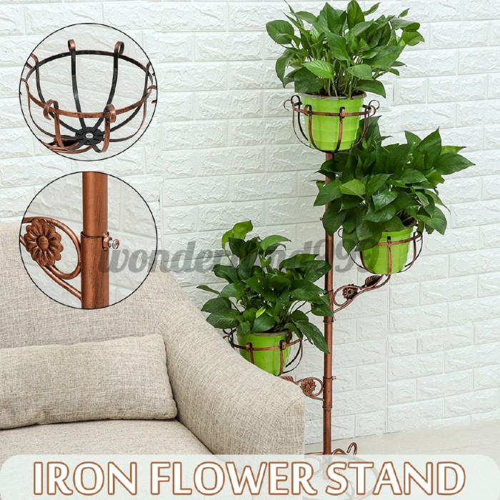 Jual Metal Plant Pot Stand Flower Display Shelf Garden Patio Floor Indoor Kab Bogor Marvelous World Tokopedia