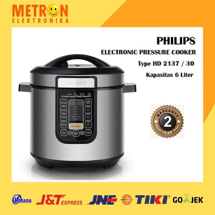 Foto Produk PHILIPS HD 2137 / 30 – ELECTRONIC PRESSURE COOKER / HD213730 dari Metron Elektronika