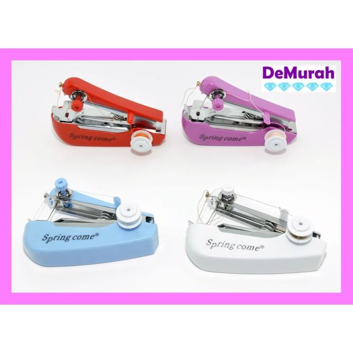 Foto Produk Springcome Mesin Jahit Portable Mini / Mesin Jahit Tangan Spring Come - Putih dari Demurah Dot Com