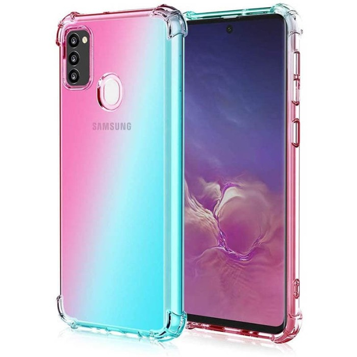 Foto Produk Shock Gradient Case Samsung Galaxy M21 - Original Clear Soft Bening dari Logay Accessories
