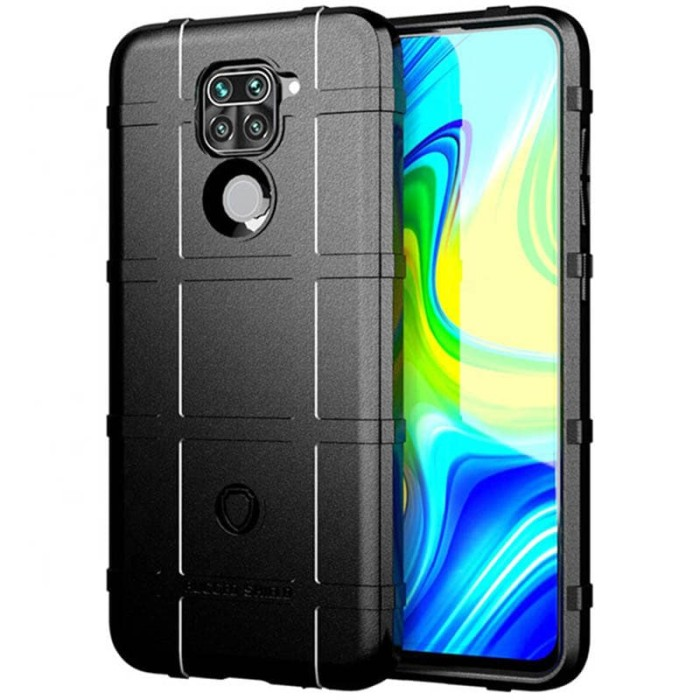 Foto Produk Armor Shield TPU Case Xiaomi RedMi Note 9 - Casing Black Soft Cover dari Logay Accessories