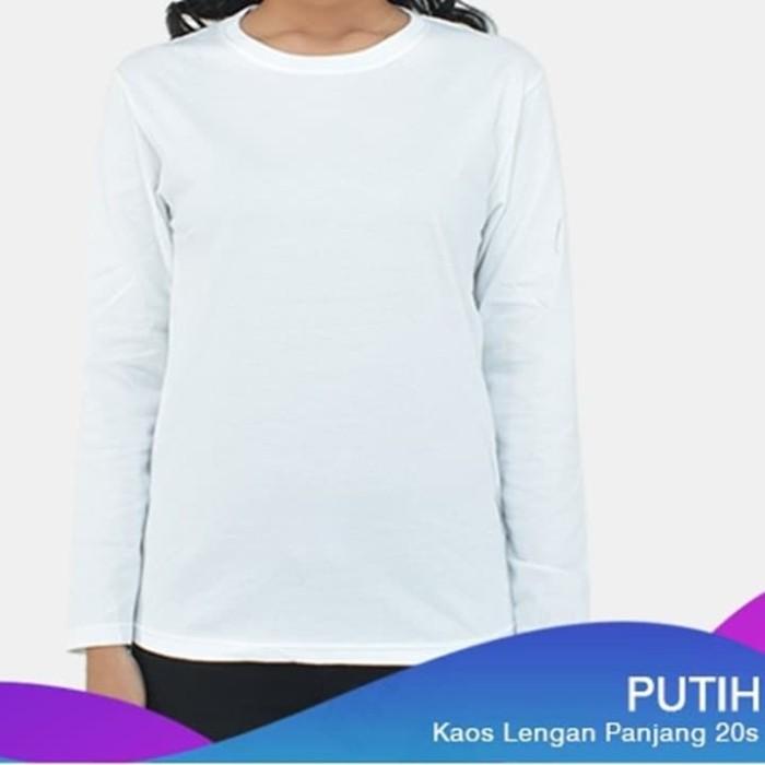 Jual Kaos Polos Lengan Panjang Warna Putih M Kab Bekasi Toko Bang Ia Tokopedia