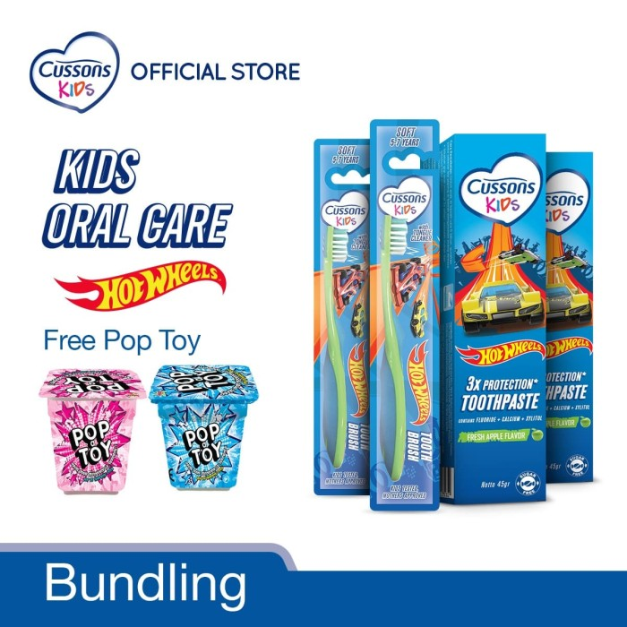 Foto Produk Cussons Kids Oral Care Hot Wheels Pack dari Cussons Official Store