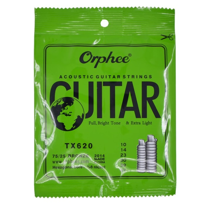 Foto Produk 1 Set Senar Gitar Orphee Akustik / Acoustic TX 620 Original Size 10 dari A and G shop