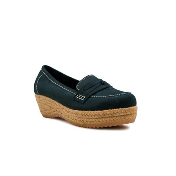 Foto Produk WEDGES Stevie Espadrilles - Merapi Navy Blue 4cm dari Natana Shoes