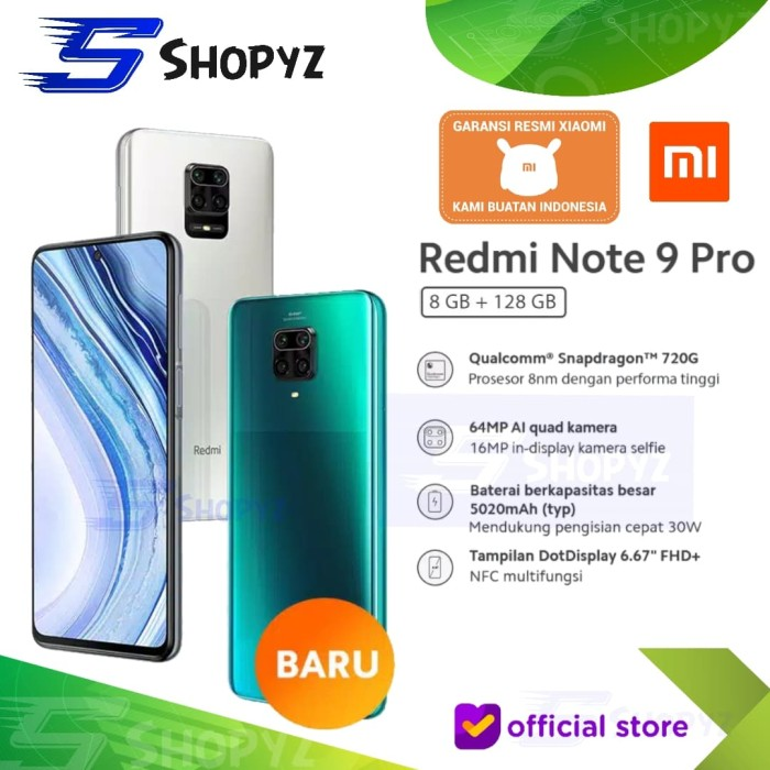 Jual Xiaomi Redmi Note 9 Pro Nfc 8gb 128gb 8 128 Snapdragon 720g Resmi Aurora Blue Jakarta Timur Shopyz Id Tokopedia