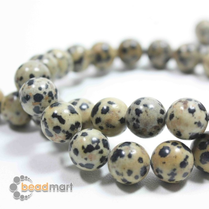 Foto Produk Manik Batu Alam, Dalmatian Jasper, 1 Renteng, Bahan Aksesoris - 8mm dari Beadmart