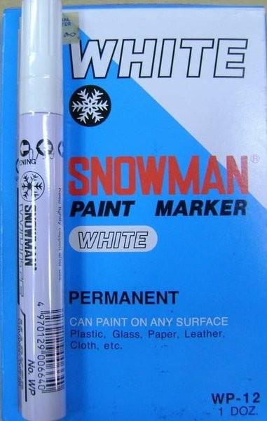 Foto Produk Paint Marker Snowman White Colour Per Gross 144 pcs dari tae yeon