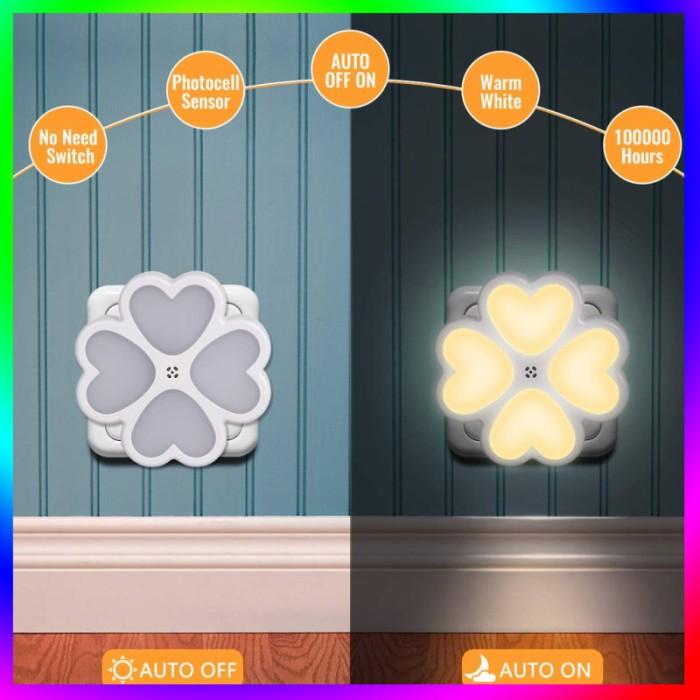 Jual Night Light Four Leaf Wall Lightsr Led Automatic Dusk To Dawn Jakarta Barat Robs Stars Tokopedia