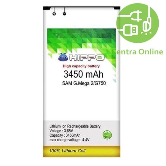 Foto Produk Hippo Baterai Samsung MEGA 2 ( G750 ) 3450 MAH Bagus Tahan Kuat dari centra online