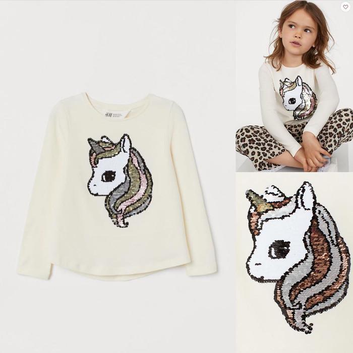 Foto Produk baju sweater anak sequin unicorn H&M original branded dari Kellyn Shop