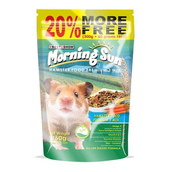 Foto Produk Morning Sun Hamster Food Seed and Grain 360gr Makanan Pokok Biji Mix dari Hime petshop