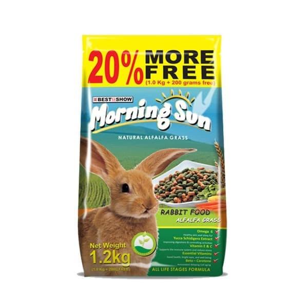 Foto Produk Morning Sun Rabbit with Alfalfa Grass 1.2kg Makanan Kelinci Ekonomis - EXP 2022-02-03 dari Hime petshop
