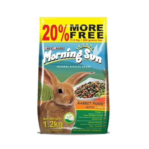 Foto Produk Morning Sun Rabbit with Carrot 1.2kg Makanan Pellet Kelinci Ekonomis dari Hime petshop
