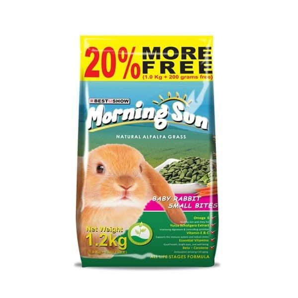 Foto Produk Morning Sun Baby Rabbit Small Bites 1.2kg Makanan Pelet Kelinci Bunny dari Hime petshop