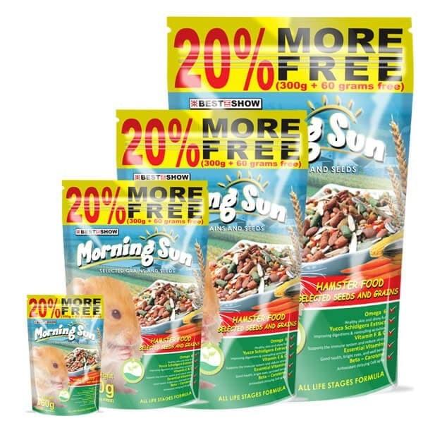 Foto Produk Morning Sun Hamster Food Seed and Grain 120gr Makanan Pokok Biji Mix dari Hime petshop
