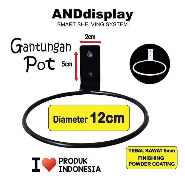 Foto Produk GANTUNGAN POT D.12 CM DINDING RING POT BUNGA HIASAN ANDDISPLAY - Putih dari SINAR KARYA RAKINDO