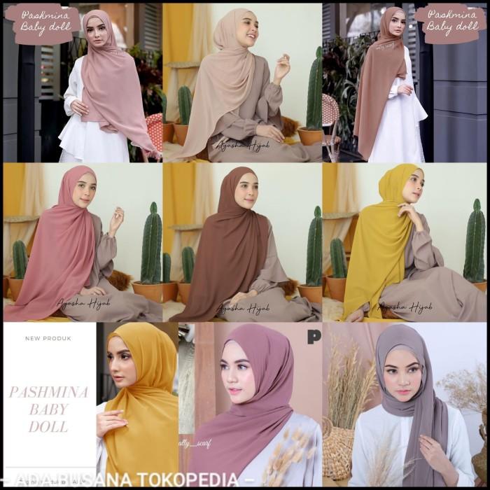 Jual Kerudung Jilbab Hijab Pashmina Ceruti Jakarta Pusat Adabusana Tokopedia