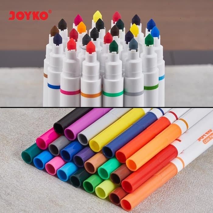 Foto Produk Colour Pen Spidol CLP 05 isi 24 Warna Marker Highlighter Whiteboard dari Sentral Stationery