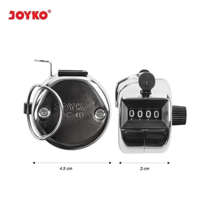Foto Produk Hand Counter / Alat Hitung Quick Count Joyko HC-4D Ver Chrome Stainles dari Sentral Stationery