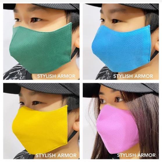 Foto Produk Masker Stylish Armor Silver Antimicrobial 3ply EPA Registered - M, Biru dari STYLISH ARMOR