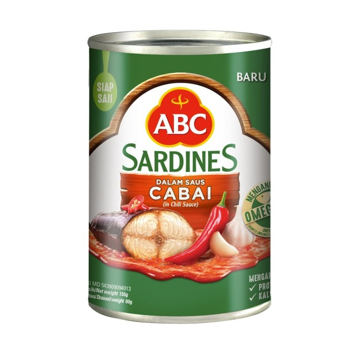 Foto Produk Sarden ABC 155 gr Cabai dari Glory Sembako