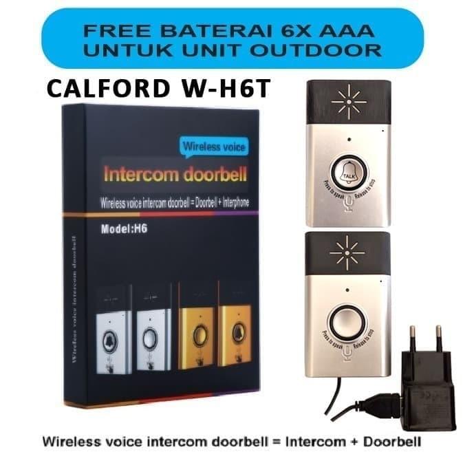Foto Produk Bel pintu dan pagar bisa interkom 2 arah - Bel suara - Calford W-H6 - perak dari EtalaseBelanja
