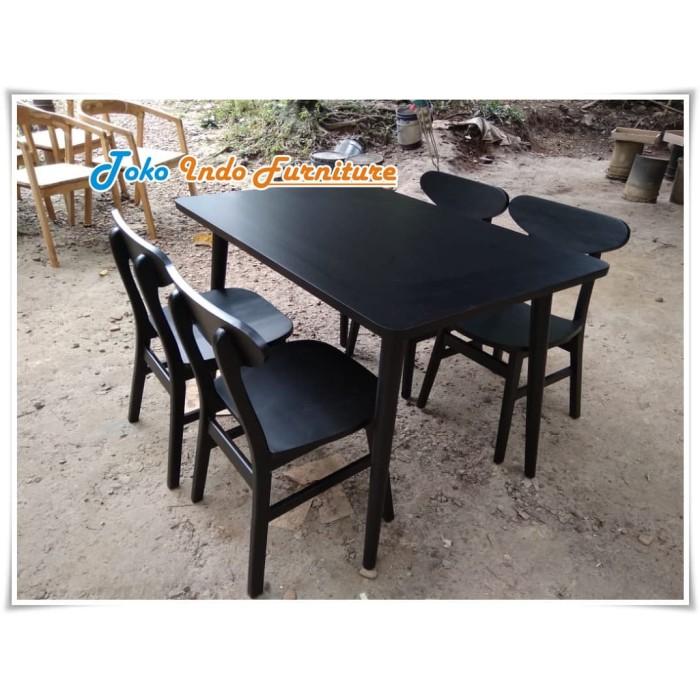 Jual Meja Kursi Cafe Jati Cat Hitam Set Meja Rumah Makan Murah Kayu Jati Kab Jepara Toko Indo Furniture Tokopedia