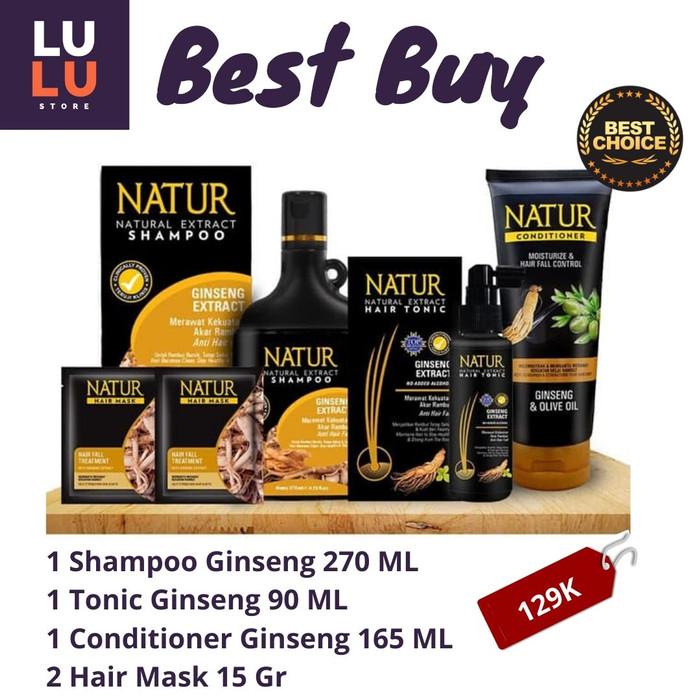 Jual Terlaris Paket Terbaik Natur Shampo Conditioner Tonic Hair Mask Isi 5 Anti Rontok Kota Bekasi Lu Lu Shop Tokopedia