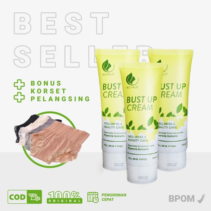 Foto Produk Cream Pembesar Dan Pengencang Payudara Herbal Royalty Paket Bust Up 3 dari Seles Green Angelica sby