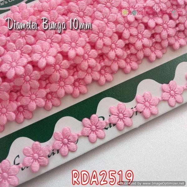 Foto Produk Rda2519 Renda Bunga Kecil Warna Pink Sedang (Per Meter) dari Toko Kain Flanel dot com
