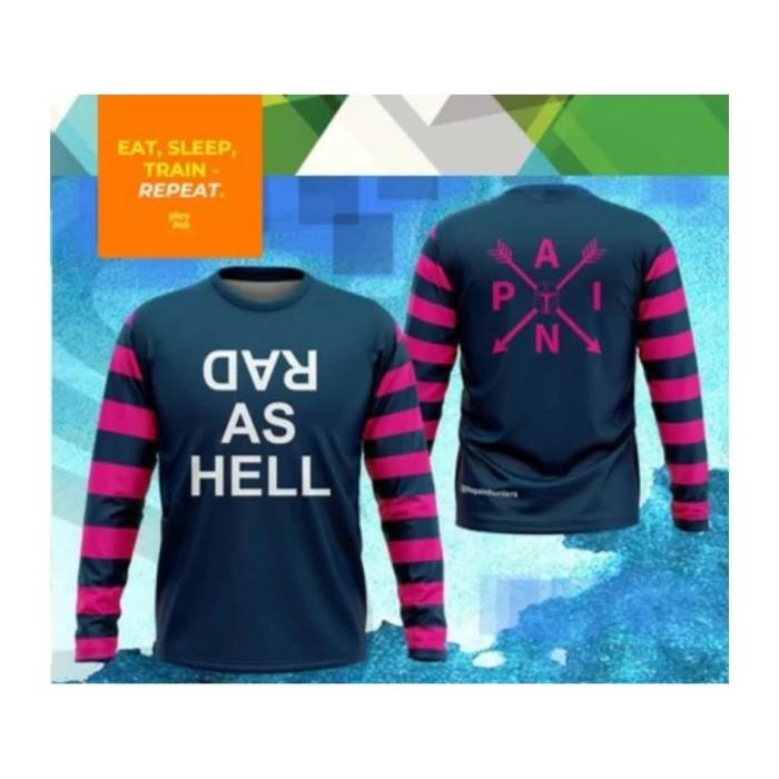 Foto Produk Kaos Lari Dri Fit Running Tees T-Shirt Tangan Panjang Long Sleeve dari The Pain Hunters