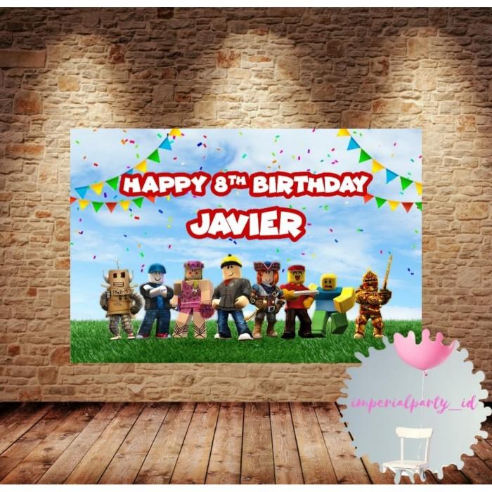 Jual Custom Happy Birthday Backdrop Banner Spanduk Ultah Anak Roblox 1x1 M Jakarta Barat Imperialparty Id Tokopedia