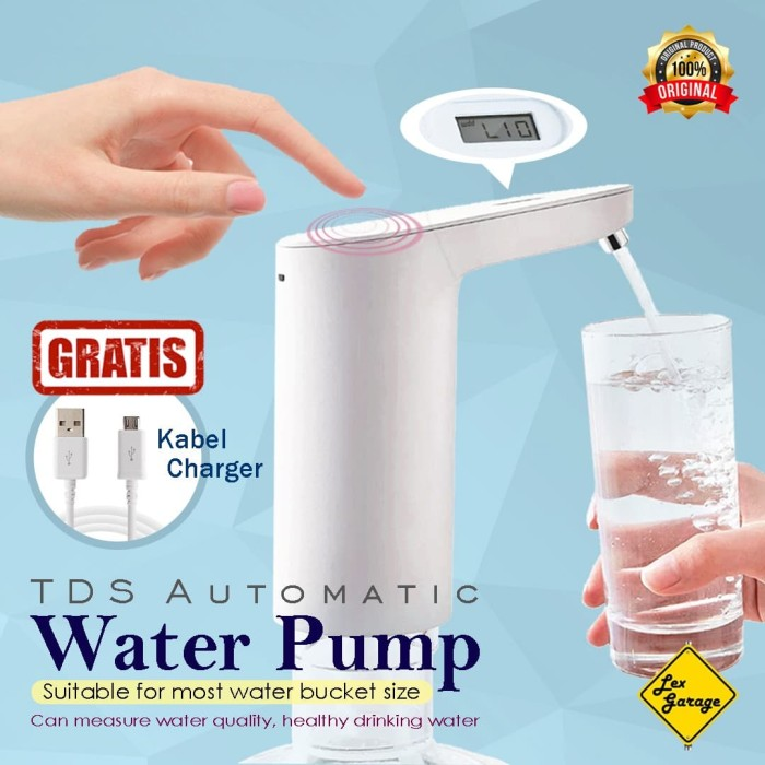 Foto Produk Pompa Galon Elektrik Water Pump Xiaomi TDS Automatic Original dari Lex Garage