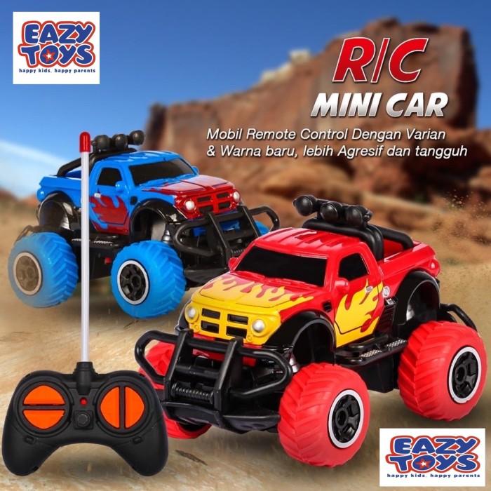 Foto Produk RC Rock Crawler Mobil Remote Kontrol Jeep Off Road Mini - plus baterai dari EAZYTOYS
