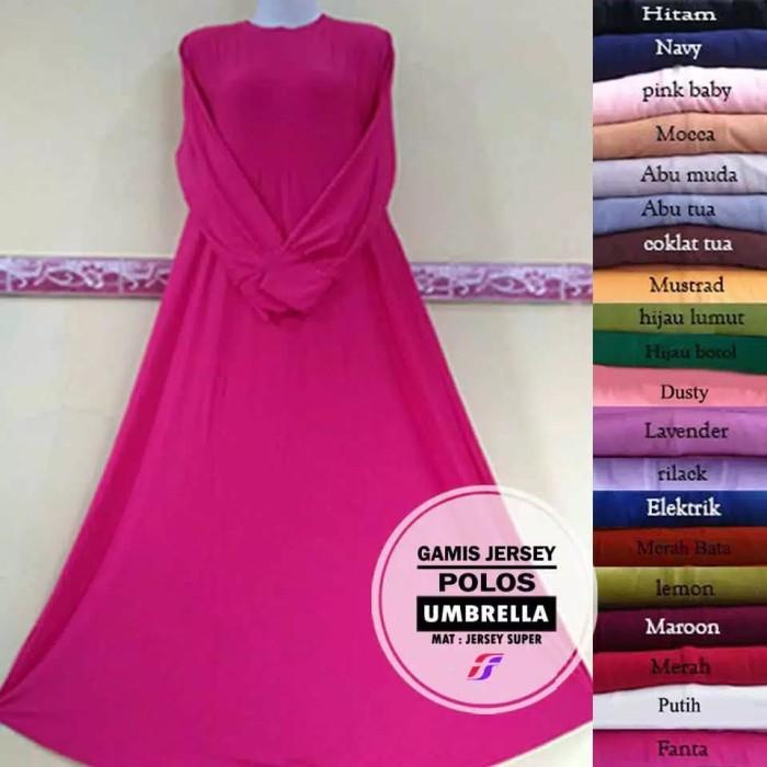 Jual Gamis Jersey Polos Premium Warna Pilihan Baby Pink Kota Cimahi Df Collection 78 Tokopedia